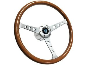 1961 1974 5 Vw S6 Classic Wood Steering Wheel Brushed Kit 3 Spoke Holes
