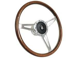 1961 1974 5 Vw S9 Classic Wood Steering Wheel Kit Castle Emblem