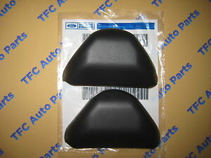 2 Ford Mustang Front Seat Belt Top Extension Cover Cap Bezels Black 2005 2014