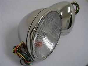 1928 1929 Ford Model A Stainless Headlights Head Lamps W Turn Signal 12 Volt