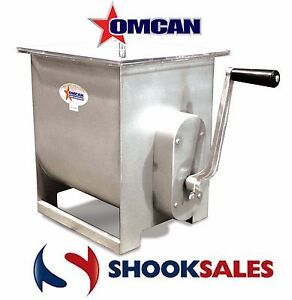 Omcan Mssm70 13156 Manual Commercial Restaurant Meat Mixer With 44 Lb Tank