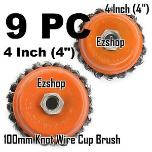9pcs Alots 4 Twist Wire Cup Brush 5 8 11nc Thread Fits Most Angle Grinders