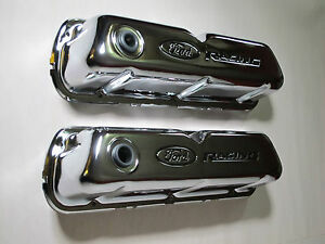 New In Box Proform Steel Stock Height Valve Covers Small Block Ford P N 302 071