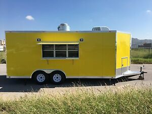 New Concession Food Event Bbq Trailer 18 X 8 5 Full Equipped
