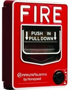 Fire Alarm Pull Station Dual Action Hex Lock Reset Visible Design Lock Home