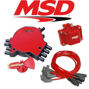 Msd Ignition Tuneup Kit 1995 Camaro Firebird 5 7l Lt1 Cap Rotor Coil Wires