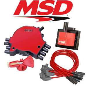 Msd Ignition Tuneup Kit 1996 97 Camaro Firebird 5 7l Lt1 Cap Rotor Coil Wires