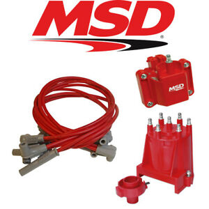 Msd Ignition Tuneup Kit 1987 95 Chevy Gmc Ext Coil 4 3l V6 Cap Rotor Coil Wires