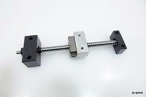 Misumi Rolled Ball Screw 1004 200l Nut Bracket With Support Unit Bsc i 283 b804