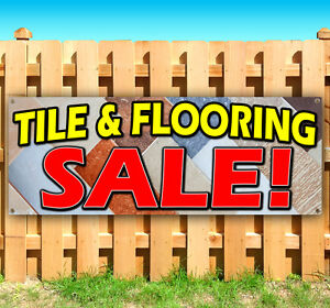 Tile Flooring Sale Advertising Vinyl Banner Flag Sign Many Sizes Available