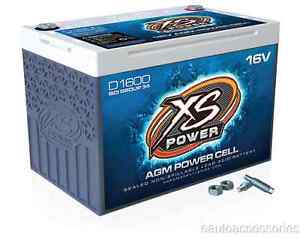 D1600 Xs Power Sealed Agm 16 Volt 2 400 Max Amp Lead Acid Battery W Hardware