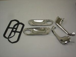 1961 To 1966 Ford Truck Door Handles W Push Buttons Custom Cab Handle Plates