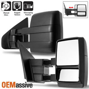 Fit 2004 2014 Ford F 150 F150 Extendable Manual Towing Trailer Mirror Left right