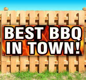 Best Bbq In Town Advertising Vinyl Banner Flag Sign Many Sizes Available