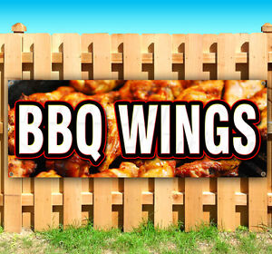 Bbq Wings Advertising Vinyl Banner Flag Sign Many Sizes Available