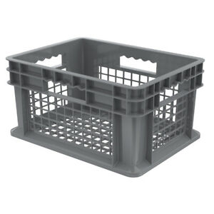 Akro mils Straight Wall Container 37208 Gray 12 Pk