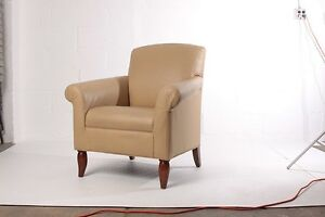 Reception Club Chairs leather Tan