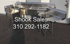 Stainless Sink Package Inc 3 Comp Food Prep Right Drain Mop And Hand Sink Nsf