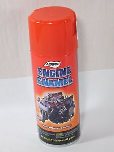 Aervoe 520 Engine Enamel Paint Chevrolet Orange 12 Oz Can