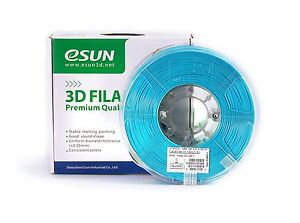 Esun 1 75mm Light Blue Pla 3d Printer Filament 1kg Spool 2 2lbs