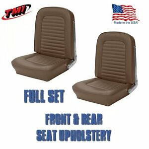 1964 1965 Mustang Front And Rear Seat Upholstery Palomino By Tmi in Stock