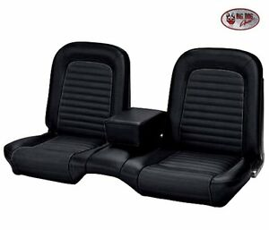 1964 1965 Mustang Coupe Front Rear Bench Seat Upholstery Black Vinyl In Stock
