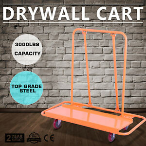 Drywall Cart Dolly Handling Sheetrock Panel 3000lbs Metal Construction Casters