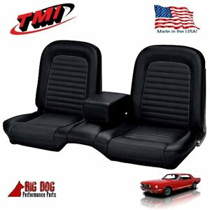 1966 Mustang Coupe Front Rear Bench Seat Upholstery Black Tmi In Stock