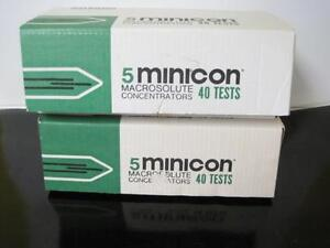 Lot Of 8 Amicon Minicon Macrosolute Concentrators 62 Test B15 Ce3901 New Rare