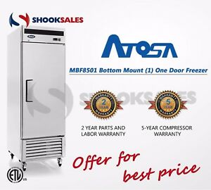 Shooksales Chicago Atosa Mbf8501 1 Door Stainless Freezer Free Shipping