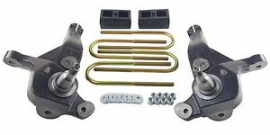 Ford Ranger Lift Kit 4 Front Spindles 2 Rear Cast Steel Blocks 01 09 4x2 Truck