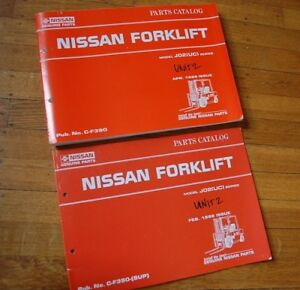 Nissan J02 uc Forklift Parts Manual Book List Catalog Spare 1998 1999 Chassis