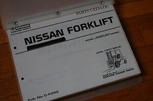 Nissan Model J02 uc Series Forklift Parts Manual Book Chassis Mast 1997 Truck