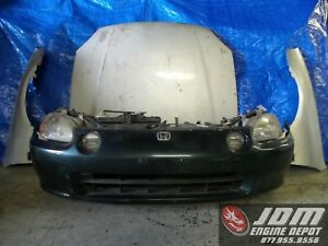 93 97 Honda Civic Del Sol Front Nose Cut Conversion Jdm B16a 154