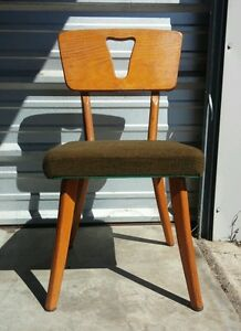 Vintage 1950 S Mid Century Modern Plywood Chair Retro Atomic Eames Era Space Age