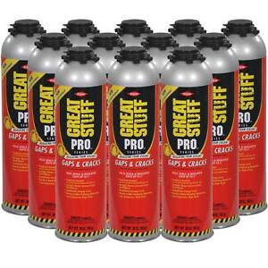 Dow Great Stuff Pro Gaps And Cracks 30 Oz Gun Foam Case Of 12