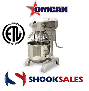Omcan Mx cn 0020 g 17835 General Purpose Mixer Guard 3 Attachments Timer Etl