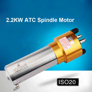 2 2kw Atc Spindle Motor Iso20 Water cooled 24000rpm 220v Automatic Tool Change