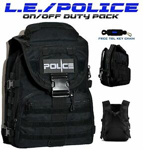 Police Law Enforcement Tactical Backpack On off Duty Bag Free Tbl Key Chain