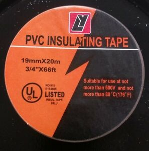 100 Rolls shurtape 3 4 X 66ft General Purpose Pvc Electrical Insulating Tape