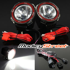 2pc 4 Inch Hid Offroad Driving Flood Lights Work Search Outdoor Lamps Switch