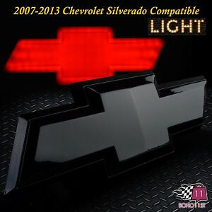 Chevrolet Chevy Tailgate Emblem Licensed Led Light Chevy Bow Tie Logo Black 6618