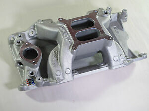 New In The Box Edelbrock 7576 Rpm Air Gap 340 360 Intake Manifold