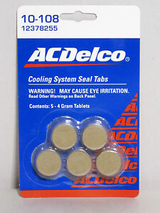 Gm Radiator Ac Delco 10 108 Cooling System Seal Set Of 5 4 Gram Tablets Oem