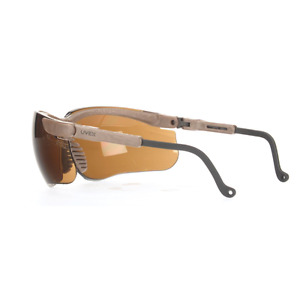 Box Of Ten Uvex S3221 Genesis Scratch resistant Safety Glasses Espresso 44a