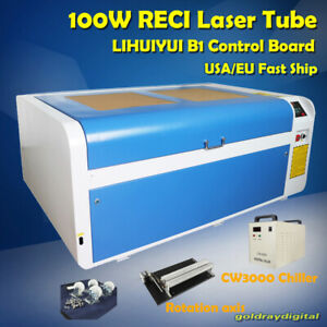 100w Co2 Laser Engraving Engraver Machine Usb Disk Cutter 1000 600mm Us Ship