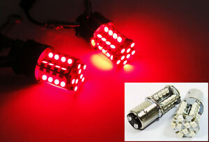 2x 1157 Bay15d Red 40 Smd Led Tail Light High Power 2357 7528 Bulb For Ford