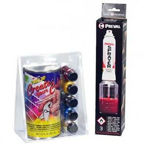 Plasti Dip Create Your Color Kit 22 Oz Clear 5 Color Tints With Preval Sprayer