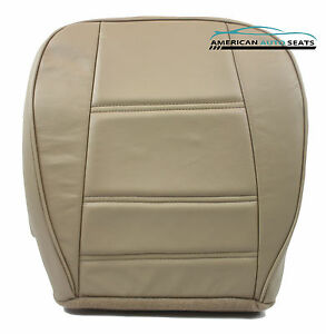 2001 2002 Ford Mustang V6 Convertible Driver Side Bottom Leather Seat Cover Tan