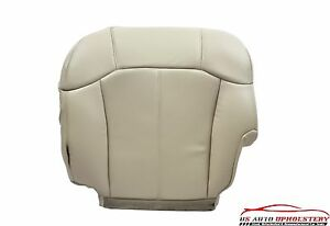 2002 Cadillac Escalade driver Bottom Perforated Leather Seat Cover Shale Tan